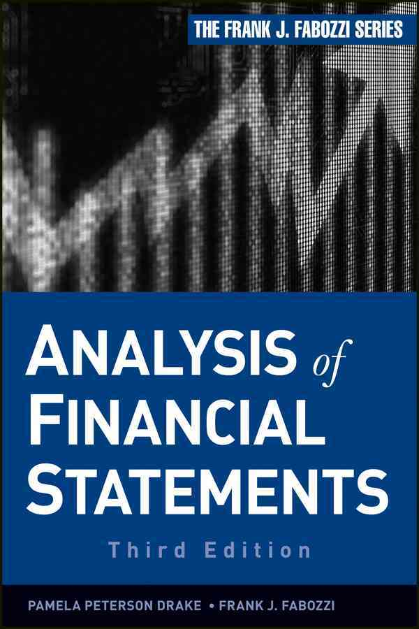 Analysis of Financial Statements By Drake, Pamela Peterson